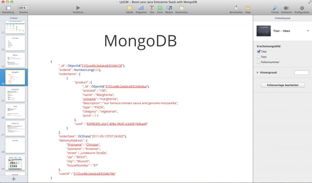 Quellcode Highlight in Keynote einfügen