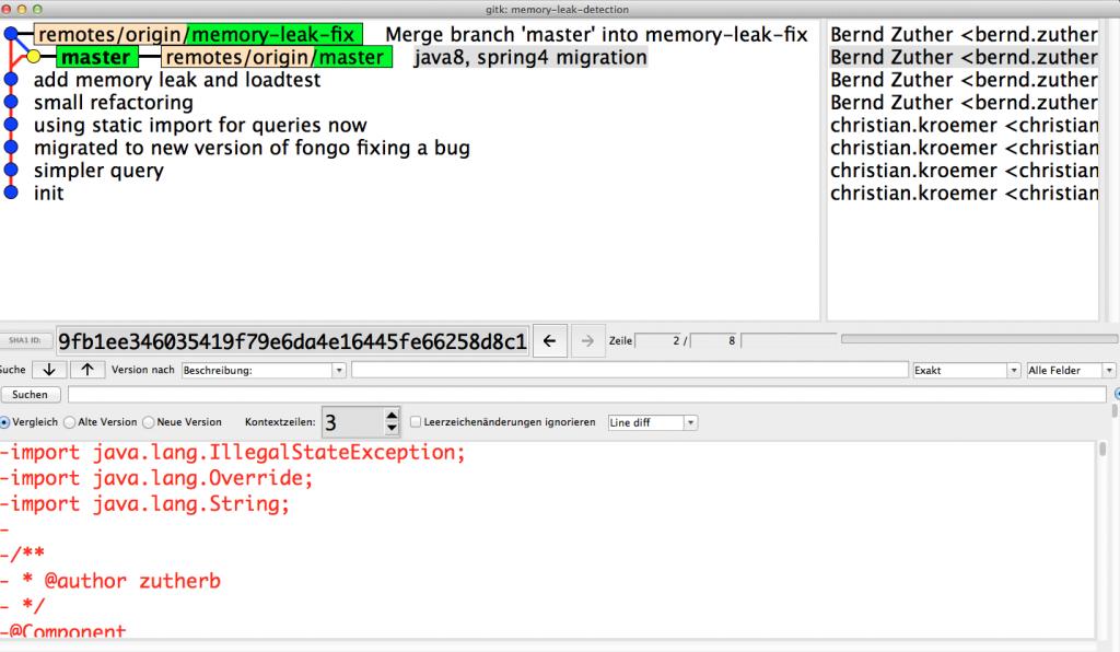 Gitk - Memory Leak Detection Repository